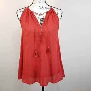 Banana Republic halter tassels blouse